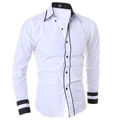 ... More Detailed Picture about Men Shirt 2016 Fashion Brand Men S Cuff  Striped Long Sleeved Shirt Male Camisa Masculina Casual Slim Chemise Homme  XXL SJQWE ... b33d9f38420b