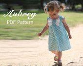 Adele - Twirl Vintage Style Dress Pattern. Girl's Sewing Pattern. Toddler Dress Pattern. PDF Pattern Sizes 1-8