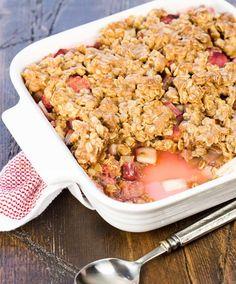 Rhubarb Apple Crisp-the perfect balance of sweet and tart.