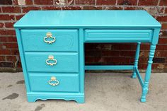painted vintage desk