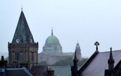 City Roof Tops by Karen Young. Taken in Galway city on a wet summer day in From the roof of the shopping centre car park. Karen Young, Roof Tops, Photography Exhibition, Shopping Center, Car Parking, Digital Photography, Summer Days, Centre, In This Moment