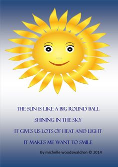 Protect your child's skin from the summer sun by teaching them about the importance of sun-cream with a fun poem, activity and song. Best Poems, School Teacher, Summer Sun, Little Ones, Have Fun, Sunshine, Audio, Album, Teaching