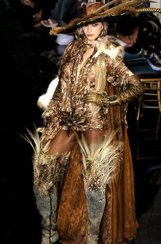 WOW! LOOK AT THESE BOOTS! Jean Paul Gaultier Haute Couture - Fall/Winter 2004