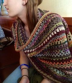 the blarf! (blanket scarf!) - click on the picture to get to the free pattern! Love the name...lol