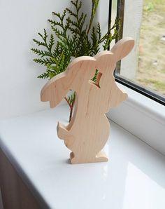 Ostern Holz Hase, Wohnaccessoires, Urlaub Rabbir Familie, banny Spielzeug - Kaninchen Figur - Geschenk von Holz - Waldorf-Tiere - umweltfreundlich ---------------------------------------------------------------------------------------- Die Figur ist mit Liebe und Seele gemacht. Es kann