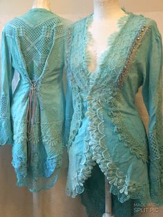 Hey, I found this really awesome Etsy listing at https://www.etsy.com/listing/480030035/victorian-aqua-colored-jacketelven
