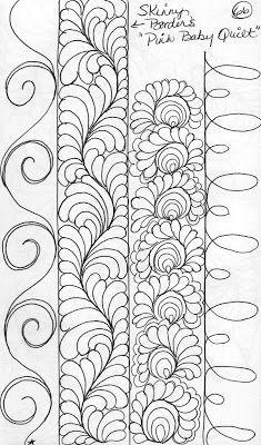 Quilting Sketch Book.....Narrow Border Designs
