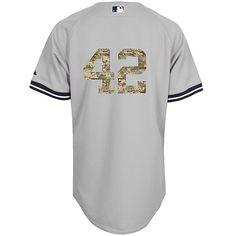 New York Yankees Authentic Mariano Rivera 2013 USMC Road Jersey - MLB.com Shop