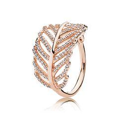 PANDORA | PANDORA Rose ring with micro bead-set cubic zirconia