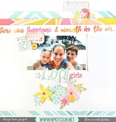 The Hip Kit Club Monthly Scrapbook Kit Club offers the best monthly Embellishment, Paper, Cardstock, Project Life and Color Scrapbook Kits! Love Scrapbook, Mixed Media Scrapbooking, Scrapbook Layout Sketches, Scrapbooking Layouts, Scrapbook Cards, Hip Kit Club, Shabby Chic Cards, Photo Layouts, Layout Inspiration