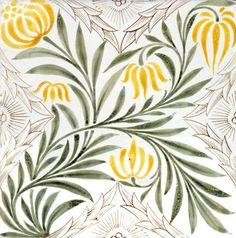 Floral spray tile, by William Morris & Co