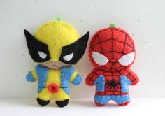Patterns Felt Spiderman and Wolverine by typingwithtea on Etsy, $6.00