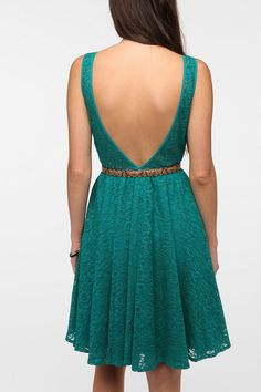 $69.00 Pins and Needles Backless Lace Dress  #UrbanOutfitters
