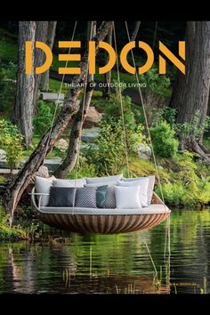 Dedon Swingrest hanging lounger I want it! If only I lived near a lake or a body of water! Outdoor Spaces, Outdoor Living, Outdoor Decor, Outdoor Swings, Garden Swings, Outdoor Lounge, Indoor Swing, Garden Seat, Indoor Hammock