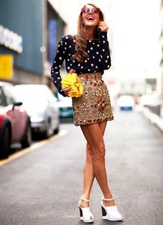 Ana Dello Russo in Dolce & Gabbana