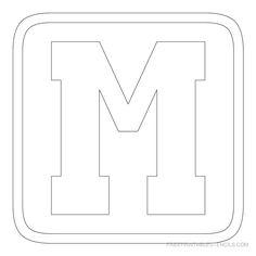 Free printable block letter stencils stencil letters d printable block letters template printable block letter stencil m spiritdancerdesigns Images