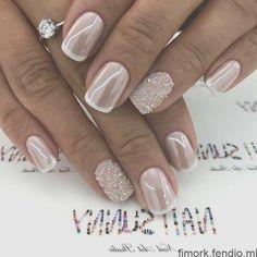 Bling Wedding Nails, Vintage Wedding Nails, Wedding Nails For Bride, Bride Nails, Wedding Nails Design, French Wedding, Elegant Wedding, French Manicure Gel, French Tip Nails