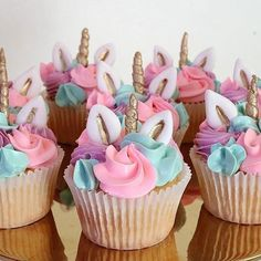 More Unicorn Cupcake Ideas