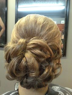flower bun formal style wedding prom hair updo with bump *All About You* Hair by Brandy Bilbrey 615-792-8817