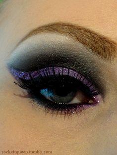black, glitter, purple, lavender