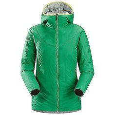 Arcteryx Ceva Hoody - Women's by Arc'teryx. $185.99. Non-quilted, laminated construction eliminates cold spots. Smooth inner face-fabric allows for easy layering. Articulated patterning for unrestricted mobility. Anatomical shaping for fit and comfort. Chin guard with brushed microsuede facing for added comfort. Lightweight, insulated hooded jacket that can be used as a stand alone piece or as a cold weather mid layer. Inset panels of stretch fabric under the arms stop jus...