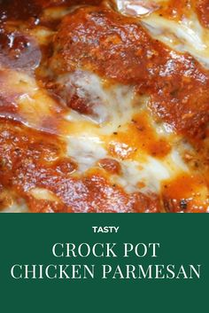 Nov 2019 - Crock-Pot Chicken Parmesan An easy, no-fuss way to make Chicken Parmesan. Adapted from The Family Table Slow Cooker by Dominique DeVito (rel… Slow Cooker Huhn, Slow Cooker Chicken, Slow Cooker Recipes, Cooking Recipes, Keto Recipes, Crockpot Dishes, Crock Pot Cooking, Simple Crock Pot Recipes, Crock Pit Recipes