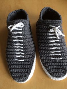 Crochet slippers for my son-in-law