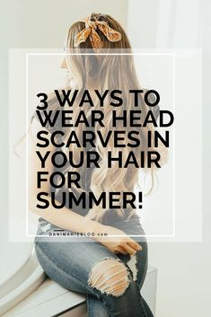 Hair scarves are such a fun way to dress your hair up without doing anything that takes a long time. I'm sharing #tutorials for my 3 favorite ways to wear #hairscarves! #hairtutorial #hairaccessory #easyhairtutorial #easyhairstyle