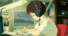 Whisper of the Heart | Miyazaki | Studio Ghibli | (gif)