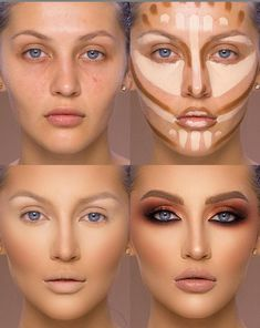 37 Tutorial for pretty makeup for beginners and students 2019 - Beauty Make-Up Best Contouring Products, Contouring And Highlighting, Best Makeup Products, Best Highlighter Makeup, Highlight Contour Makeup, Makeup Tips Contouring, Nose Contouring, Face Contouring Tutorial, Makeup Ideas