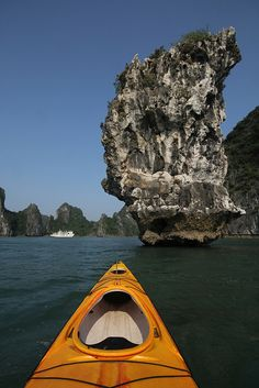We explored Halong Bay, Vietnam, on a tour boat. Maybe next time, we will see it by kayaking.