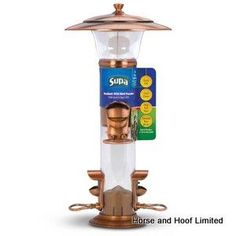 Supa Radiant Mixed Seed Feeder For Wild Birds Wide-Mouth Design Offers Easy-Fill reduces or eliminates spillage Four feeding stations mixed seed or sunflower seeds allocates seed evenly to all four ports.