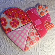 Heart Patchwork Cookie | Cookie Connection
