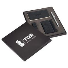 Revello Bundle Gift Set, includes Revello Pocket JournalBook, Revello Pouch, Revello Keychain, & Preston Dual Ballpoint Stylus  | Minimum order 36, $16.37 - $12.98 ea.