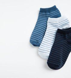 Lot de trois chaussettes à rayures de Zara 2-3 ans