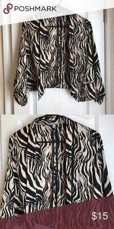 Print Blazer Charlotte Russe printed blazer - peach and black - excellent condition barely worn! Charlotte Russe Jackets & Coats Blazers