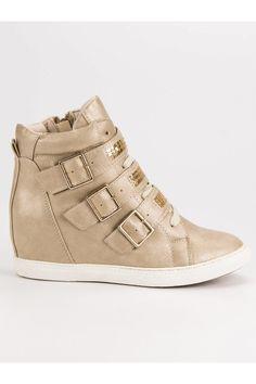 Pohodlné béžové tenisky Mazzoni Wedges, Sneakers, Shoes, Fashion, Tennis, Moda, Slippers, Zapatos, Shoes Outlet
