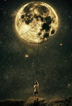 A Guy Trying To Get The Moon