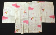 Japanese Vintage Kimono, HAORI, SILK, Silky yellow, Beautiful flower P012330    eBay