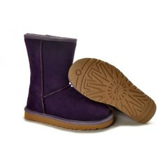 Dark Purple UGG Comfortable Short 5825 Boots uk clearance sale outlet