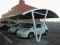 Commercial carport (canvas cover)
