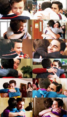 I just love the way Blaine closes his eyes and wraps himself around Kurt when they hug...because that's his home.  Kurt's arms are his home and his favorite place to be in the world.