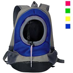 YAMAY® Pet Cat Dog Carrier Front Pack Backpack Travel Shoulder Bag PU Leather   Nylon Mesh Hands Free Head Out Design with Pockets Soft Cushion for Small dogs Cats Bike Car Hiking *** Click on the image for additional details.