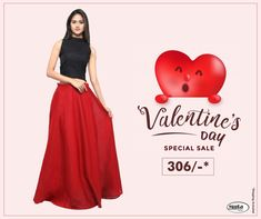 Get Valentine's Day ready without spending thousands of bucks. Check Valentine's Day offers now. Valentine Day Offers, Valentine Day Special, Valentines, Online Shopping For Women, Online Fashion Stores, Sale Of The Day, Textile Market, Kids Lehenga, Western Tops