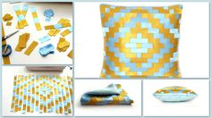 a #brief #description of the #work #decorative #pillows #18 / 18 #pillow #covers от #AnnushkaHomeDecor #housewares #pillowcase #lush pillow #Home #Decor #gifts #woman #beauty #fashion #design #popular #patchwork #quilt #Blue #Gold