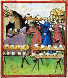 Tacuinum Sanitatis ~ Mercado de pan (Bread store)