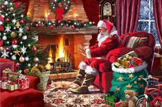 Bring holiday cheer with these Christmas themed puzzles. Full of festive imagery and winter fun, these puzzles will delight all ages. Christmas Wall Art, Christmas Canvas, Magical Christmas, Christmas Scenes, Christmas Past, Christmas Paintings, Christmas Cross, Christmas Wallpaper, Christmas Pictures