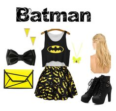 """Batman"" by haileythomas-1 on Polyvore featuring Retrò, Ariella Collection and Pluie"
