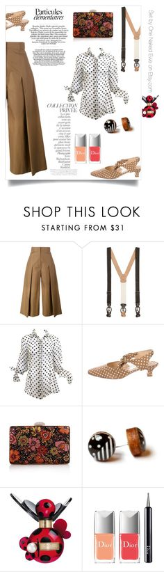 """""""Suspension of d'pleats"""" by onenakedewe ❤ liked on Polyvore featuring By Terry, Fendi, Brooks Brothers, Delage, WithChic, Marc Jacobs, Christian Dior and pleats"""