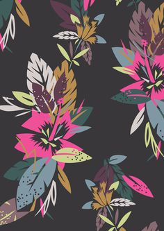 Womenswear Textile Prints by Eloise Rapp, via Behance. Jara, this reminded me of you. :-)